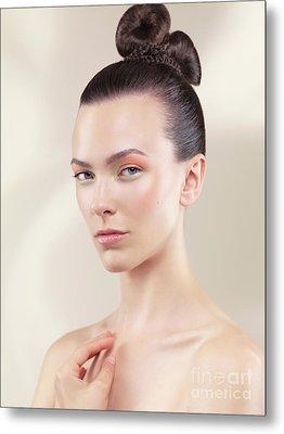 Beautiful Young Woman Portrait Metal Print by Oleksiy Maksymenko