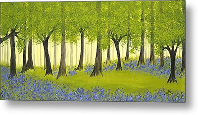 Bluebell Grove Metal Print
