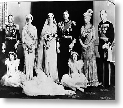 British Royal Family. Seated, From Left Metal Print by Everett