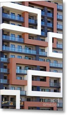 Building Facade Metal Print by Carlos Caetano