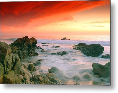 California Beach Sunset Metal Print by Dung Ma