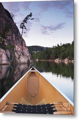 Canoeing In Ontario Provincial Park Metal Print by Oleksiy Maksymenko