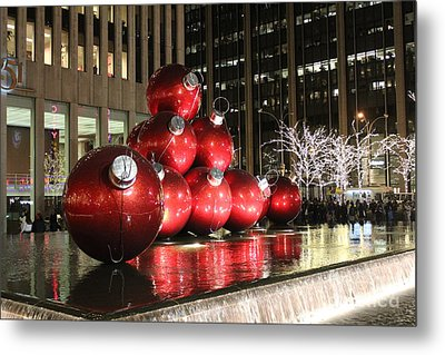 Metal Print featuring the photograph Christmas Card by Laurinda Bowling