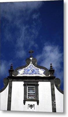 Church In Azores Islands Metal Print by Gaspar Avila