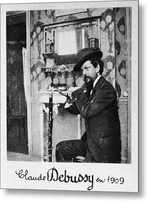 Claude Debussy, French Composer Metal Print by Photo Researchers