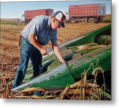 Corn Harvest Metal Print by Hans Droog