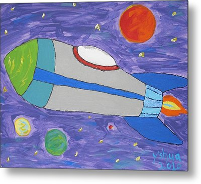 Metal Print featuring the painting Day Dreamer by Yshua The Painter