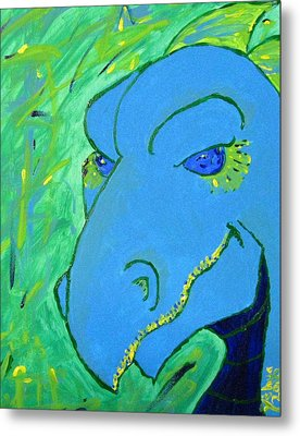 Metal Print featuring the painting Dragon by Yshua The Painter