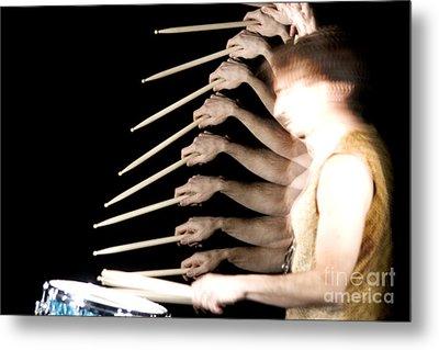 Drummer Metal Print by Ted Kinsman