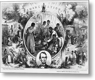 Effects Of Emancipation Proclamation Metal Print by Photo Researchers