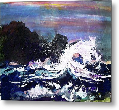 Evening Wave Metal Print by Valerie Wolf