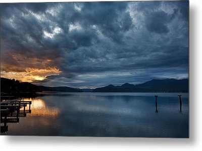 Fall Sunset Over Lake Pend Oreille Metal Print by Marie-Dominique Verdier