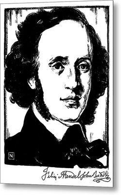 Felix Mendelssohn Metal Print by Granger