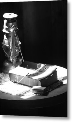 Follow The Light Metal Print by Empty Wall