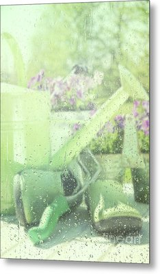 Garden Tools For Spring Planting  Metal Print by Sandra Cunningham
