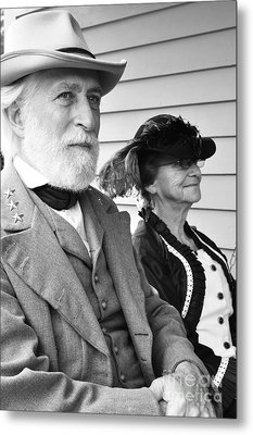 General Lee And Mary Custis Lee Metal Print