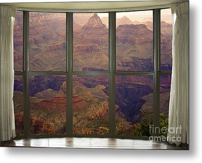 Grand Canyon Springtime Bay Window View Metal Print by James BO  Insogna