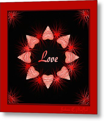 Metal Print featuring the digital art Hearts Of Love by Barbara MacPhail