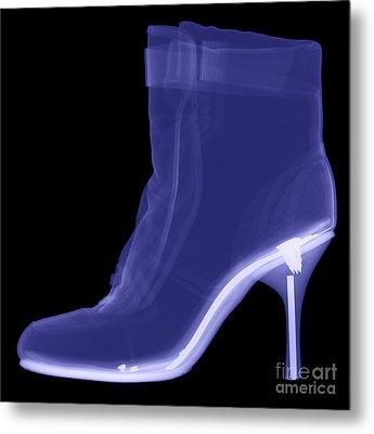 High Heel Boot X-ray Metal Print by Ted Kinsman