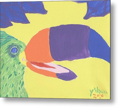 Metal Print featuring the painting If One Can Toucan by Yshua The Painter