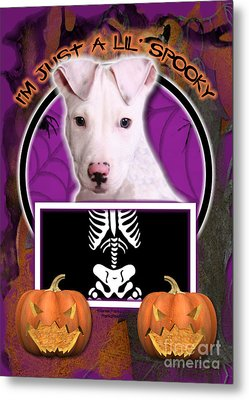 I'm Just A Lil' Spooky Pitbull  Metal Print by Renae Laughner