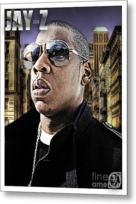 Jay Z Metal Print by The DigArtisT