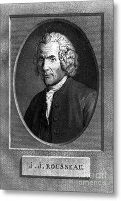 Jean-jacques Rousseau, Swiss Philosopher Metal Print by Photo Researchers