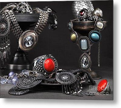 Jewellery Still Life Metal Print by Oleksiy Maksymenko
