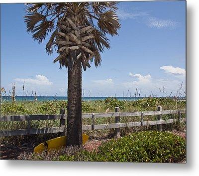 Juan Ponce De Leon Landing Site In Florida Metal Print by Allan  Hughes