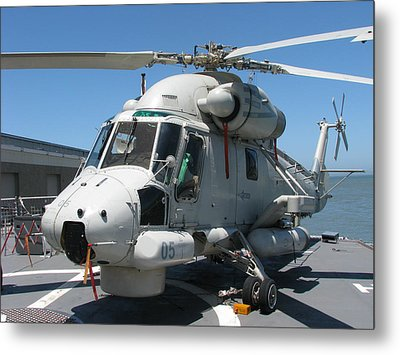 Metal Print featuring the photograph Kaman Sh-2g Sea Sprite by Samuel Sheats