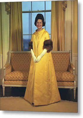 Lady Bird Johnsons Inaugural Gown. The Metal Print by Everett