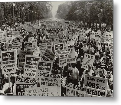 March On Washington. African Americans Metal Print by Everett