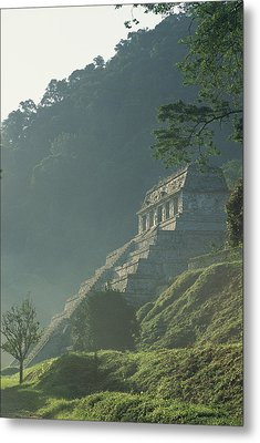 Misty View Of The Temple Metal Print by Kenneth Garrett