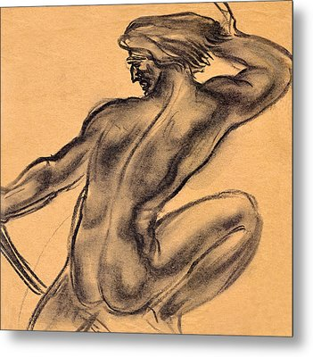 Nude Men Metal Print by Odon Czintos