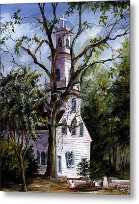 Metal Print featuring the painting Old St. David's Church by Gloria Turner
