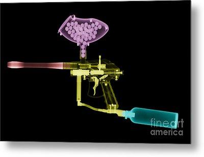 Paintball Gun Metal Print by Ted Kinsman