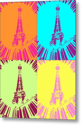 Paris In Vegas Metal Print by Amber Hennessey