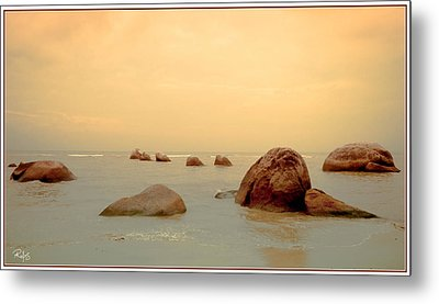 Pastel Rocks Metal Print by Allan Rufus