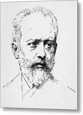 Peter Ilich Tchaikovsky Metal Print by Granger