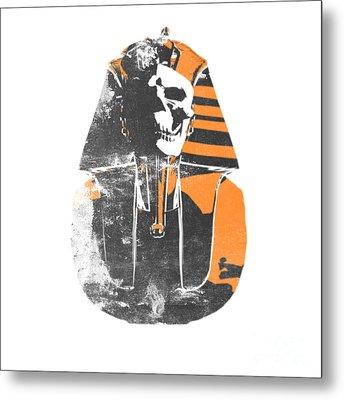Pharaoh Stencil  Metal Print by Pixel  Chimp