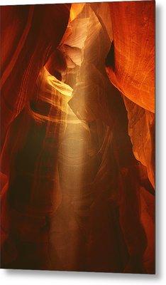 Pillars Of Light - Antelope Canyon Az Metal Print by Christine Till