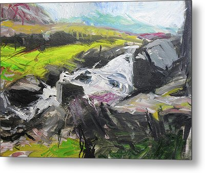 Plein Air In Snowdonia Metal Print