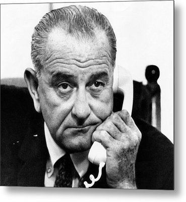 President Lyndon B. Johnson Metal Print by Everett