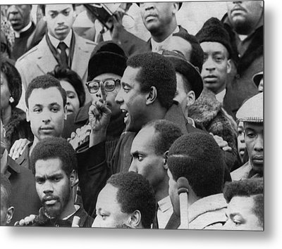 Profile Of Stokely Carmichael Speaking Metal Print by Everett