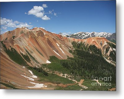 Red Mountain Metal Print by Marta Alfred