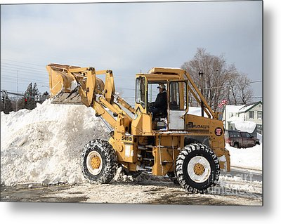 Removing Snow Metal Print by Ted Kinsman