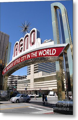 Reno . The Biggest Little City In The World Metal Print by Wingsdomain Art and Photography