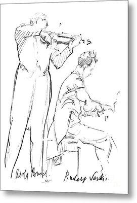 Rudolf Serkin (1903-1991) Metal Print by Granger