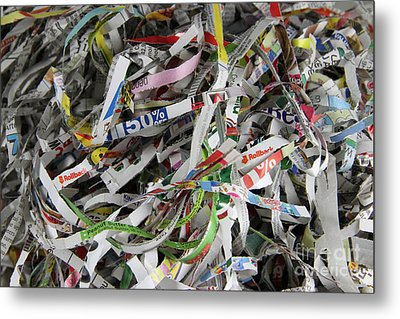 Shredded Paper Metal Print by Photo Researchers, Inc.