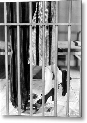 Silent Film Still: Legs Metal Print by Granger